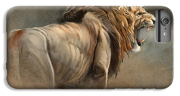 Lion iPhone 6 Plus Case - When The King Speaks by Aaron Blaise