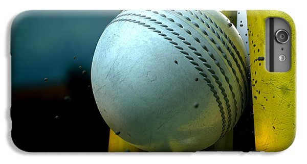 White Cricket Ball And Wickets IPhone 6 Plus Case by Allan Swart