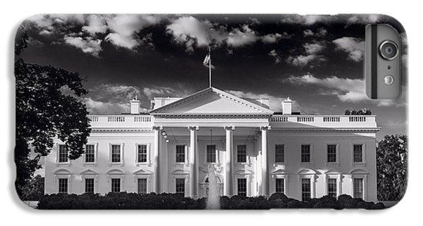 Whitehouse iPhone 6 Plus Case - White House Sunrise B W by Steve Gadomski