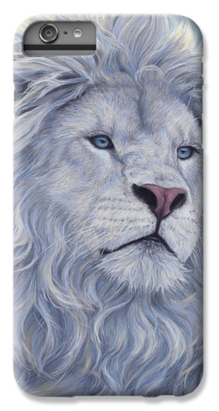 Wildlife iPhone 6 Plus Case - White Lion by Lucie Bilodeau