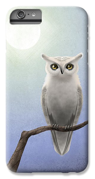 Owl iPhone 6 Plus Case - White Owl by April Moen