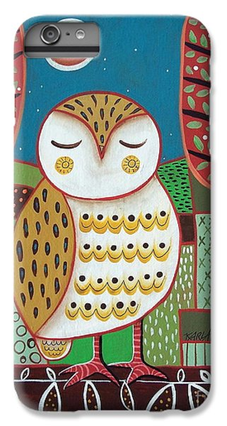 Owl iPhone 6 Plus Case - White Owl by Karla Gerard
