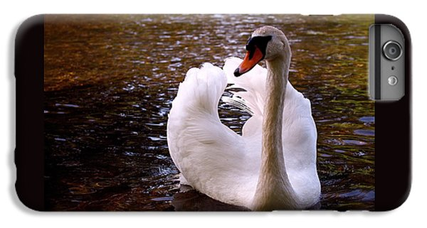 White Swan IPhone 6 Plus Case by Rona Black