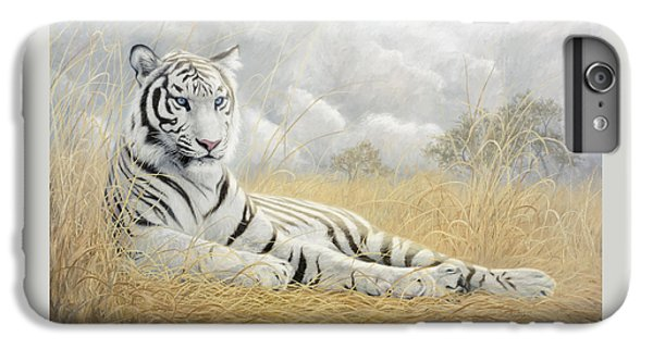 Tiger iPhone 6 Plus Case - White Tiger by Lucie Bilodeau