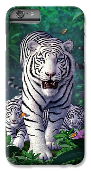 White Tigers IPhone 6 Plus Case by Jerry LoFaro