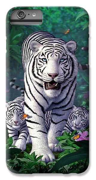 Tiger iPhone 6 Plus Case - White Tigers by Jerry LoFaro