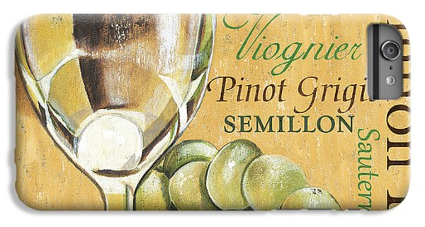 Wine iPhone 6 Plus Case - White Wine Text by Debbie DeWitt