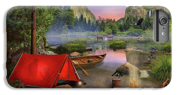 IPhone 6 Plus Case featuring the drawing Wilderness Trip by David M ( Maclean )