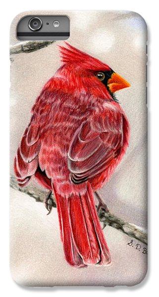 Cardinal iPhone 6 Plus Case - Winter Cardinal by Sarah Batalka