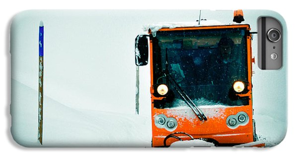 Orange iPhone 6 Plus Case - Winter Road Clearance by Matthias Hauser