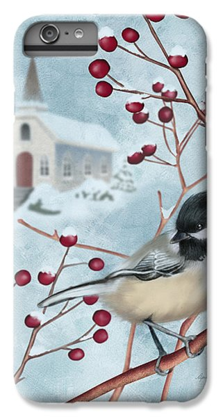 Chickadee iPhone 6 Plus Case - Winter Scene I by April Moen
