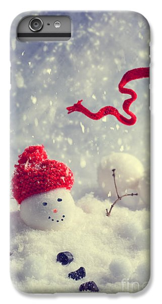 Knit Hat iPhone 6 Plus Case - Winter Snowman by Amanda Elwell