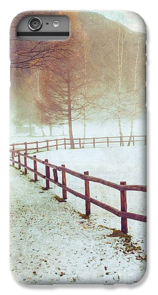 Winter Tree With Fence IPhone 6 Plus Case by Silvia Ganora