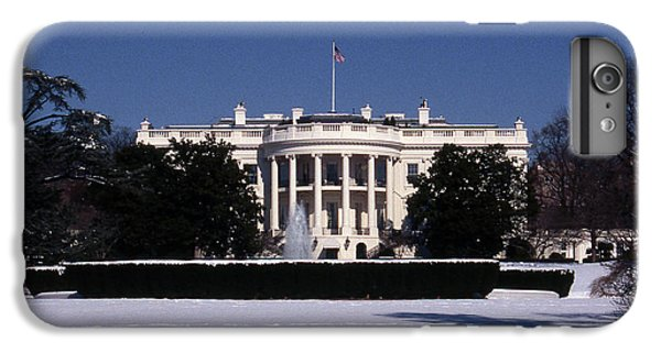 Whitehouse iPhone 6 Plus Case - Winter White House  by Skip Willits