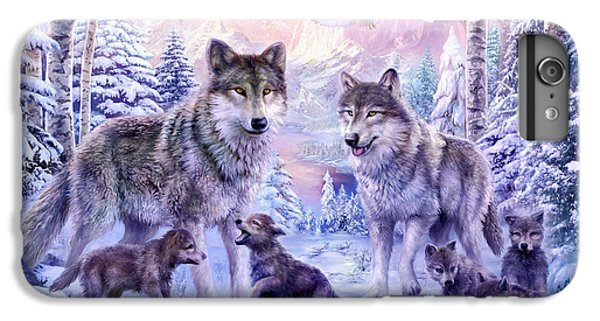 Winter Wolf Family  IPhone 6 Plus Case