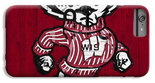 Wisconsin Badgers College Sports Team Retro Vintage Recycled License Plate Art IPhone 6 Plus Case by Design Turnpike