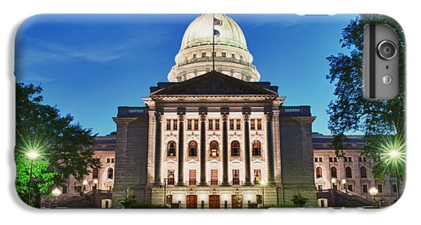 Wisconsin State Capitol Building At Night IPhone 6 Plus Case by Sebastian Musial