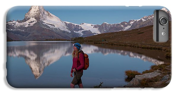 Knit Hat iPhone 6 Plus Case - With The Matterhorn In The Background by Menno Boermans