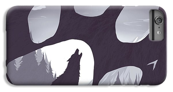 Wolves iPhone 6 Plus Case - Wolf Paw by Daniel Hapi