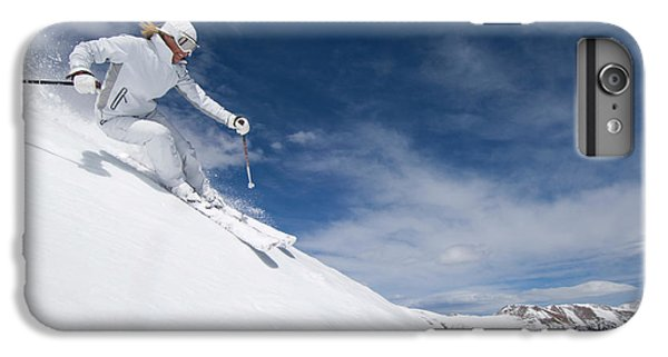 Knit Hat iPhone 6 Plus Case - Woman Skiing At Loveland, Colorado by Scott Markewitz