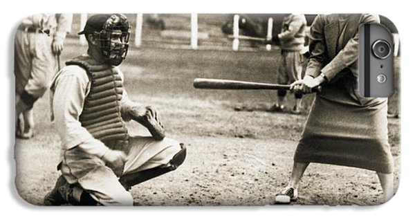 Woman Tennis Star At Bat IPhone 6 Plus Case by Underwood Archives