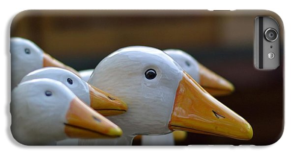 Decorative iPhone 6 Plus Case - Wooden Geese by Bunny My Yummy
