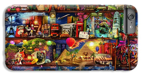 World Travel Book Shelf IPhone 6 Plus Case
