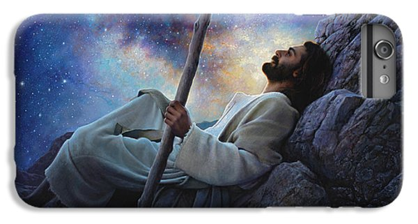 Christ iPhone 6 Plus Case - Worlds Without End by Greg Olsen