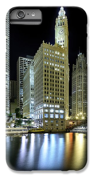 Wrigley Building At Night  IPhone 6 Plus Case by Sebastian Musial