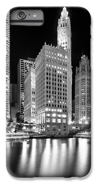 Wrigley Building Reflection In Black And White IPhone 6 Plus Case