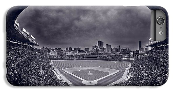 Wrigley Field Night Game Chicago Bw IPhone 6 Plus Case by Steve Gadomski