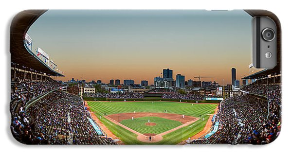 Wrigley Field Night Game Chicago IPhone 6 Plus Case by Steve Gadomski
