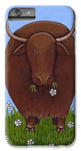 Whimsical Yak Painting IPhone 6 Plus Case by Christy Beckwith