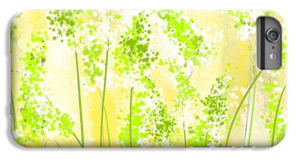 Yellow And Green Art IPhone 6 Plus Case by Lourry Legarde