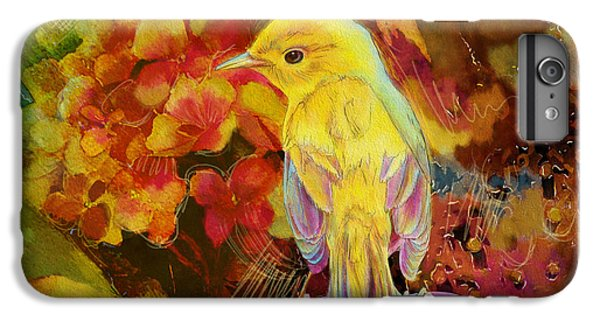 Yellow Bird IPhone 6 Plus Case by Catf
