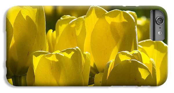IPhone 6 Plus Case featuring the photograph Yellow Tulips  by Yulia Kazansky