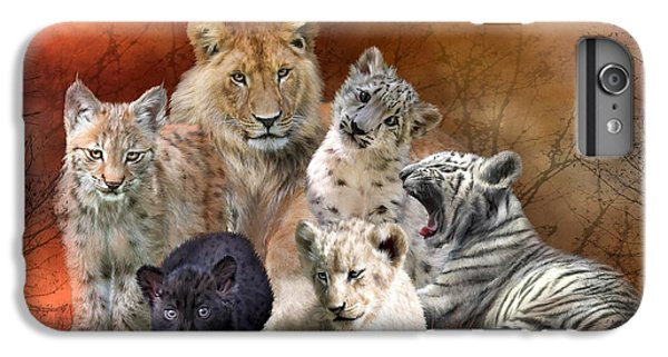 Lion iPhone 6 Plus Case - Young And Wild by Carol Cavalaris