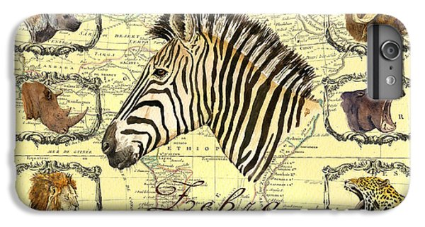Lion Head iPhone 6 Plus Case - Zebra African Map Heads by Juan  Bosco