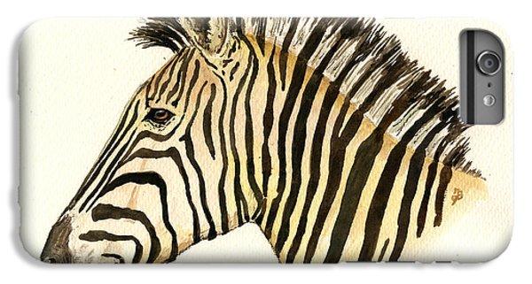 Zebra Head Study IPhone 6 Plus Case by Juan  Bosco