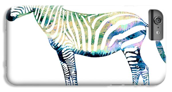 Zebra  IPhone 6 Plus Case by Watercolor Girl