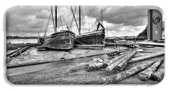 Boats And Logs At Pin Mill  IPhone 6 Plus Case by Gary Eason
