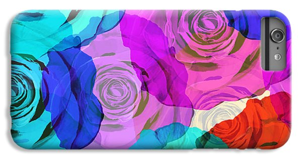 Rose iPhone 6 Plus Case - Colorful Roses Design by Setsiri Silapasuwanchai