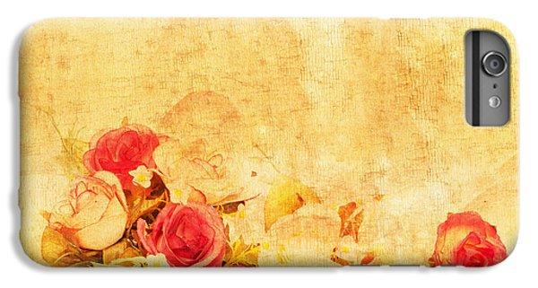 Rose iPhone 6 Plus Case - Retro Flower Pattern by Setsiri Silapasuwanchai