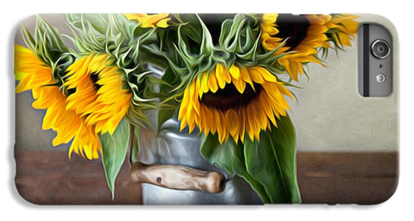 Sunflower iPhone 6 Plus Case - Sunflowers by Nailia Schwarz