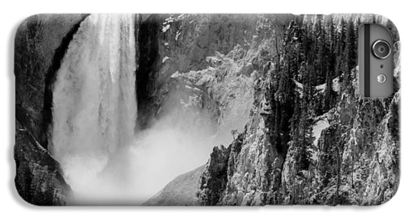 Yellowstone Waterfalls In Black And White IPhone 6 Plus Case by Sebastian Musial