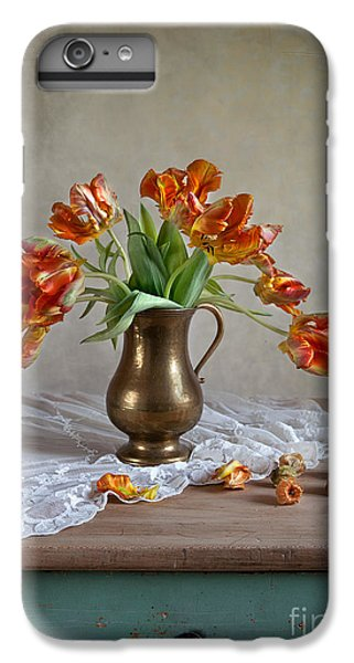 Tulip iPhone 6 Plus Case - Still Life With Tulips by Nailia Schwarz