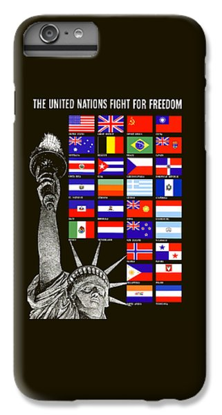 Allied Nations Fight For Freedom IPhone 6 Plus Case by War Is Hell Store