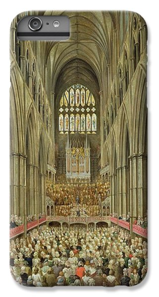 An Interior View Of Westminster Abbey On The Commemoration Of Handel's Centenary IPhone 6 Plus Case by Edward Edwards