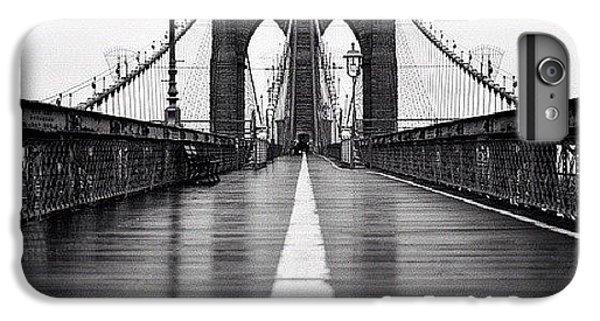 Blue iPhone 6 Plus Case - Brooklyn Bridge by Randy Lemoine