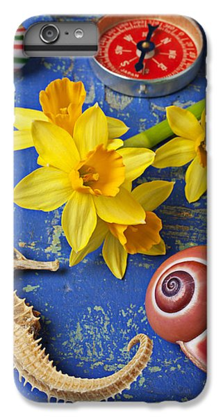 Daffodils And Seahorse IPhone 6 Plus Case